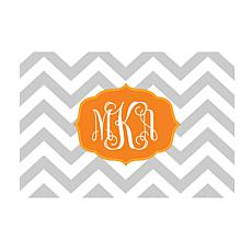 Chevron Monogram Personalized Doormat