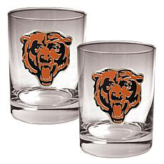 Chicago Bears 2pc Rocks Glass Set