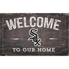 Chicago White Sox 11x19 Welcome to our Home Sign
