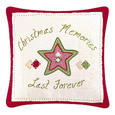 Christmas Memories Quilted Pillow