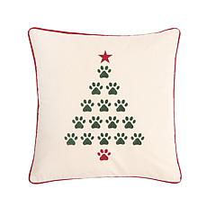 Christmas Tree Paws Pillow