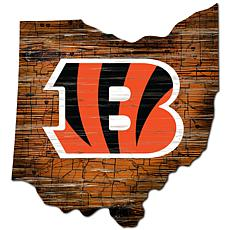 Cincinnati Bengals Distressed State with Logo