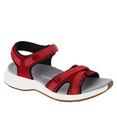 Clarks Collection Solan Drift Suede Athleisure Sandal
