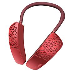 Cleer Halo Smart Wearable Wireless Bluetooth Neck Speaker - Red
