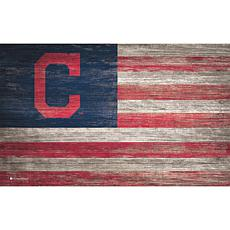 Cleveland Indians Distressed Flag 11x19