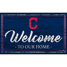 """Cleveland Indians Team Color Welcome Sign - 11x19"""""""