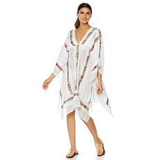 Clever Carriage Company Diva Cross-Stitched Rose Kaftan