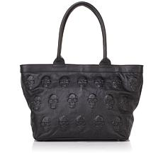 Clever Carriage Company Leather Skull Tote