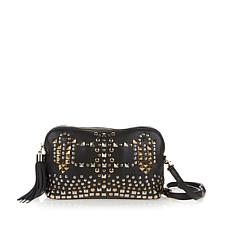 Clever Carriage Diva Antique Studded Leather Crossbody