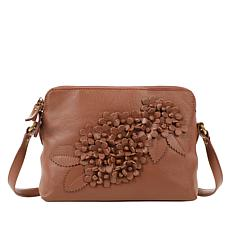 Clever Carriage Handcrafted Leather Floral Crossbody