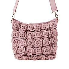 Clever Carriage Handcrafted Leather Rose Crossbody