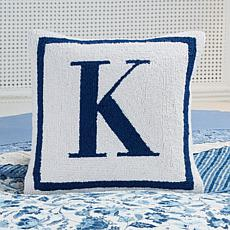 Clever Carriage Home Hooked Initial Pillow