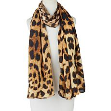 Clever Carriage Leopard Print Silk Scarf