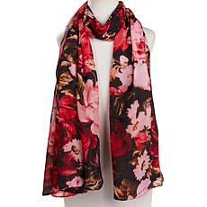 Clever Carriage Rose Bouquet Silk Scarf