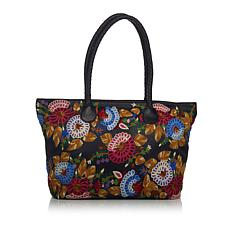 Clever Carriage Rose Garden Leather Shopper - Limited Quantity