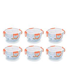 ClipFresh 12-piece 16 oz. Food Storage Container Set