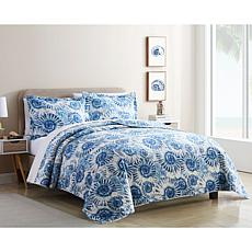 Coastal Inspired 3-piece Queen Quilt Set