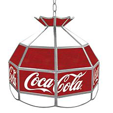 "Coca-Cola 16"" Stained-Glass Lamp - Red and White"