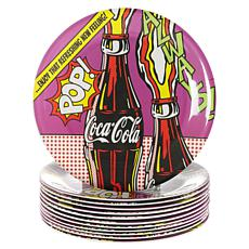 "Coca-Cola 90s Pop  9"" Dinner Plate set of 12"