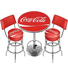 Coca-Cola Gameroom Combo - 2 Stools with Backs/Table