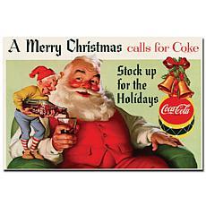 "Coca-Cola ""Merry Christmas with Elves"" Canvas Art"