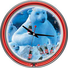 Coca-Cola Neon Clock - Polar Bears with Colas