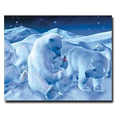 "Coca-Cola ""Polar Bear Sitting with Cub"" Canvas Art"