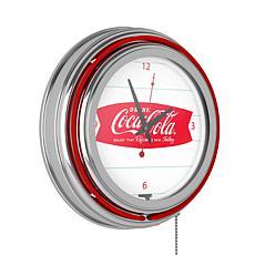 "Coca-Cola ""Refreshing Feeling"" Retro Neon Clock"