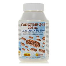 CoEnzyme Q-10 200 with Vitamin D3 2000 - 240 Capsules