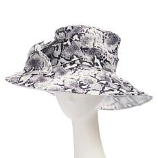 Collection 18 Animal-Print Organza Dressy Wide-Brim Hat