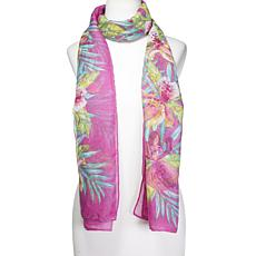 Collection 18 Oversized Tropical-Print Scarf Wrap