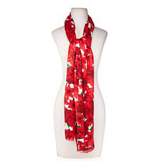 Collection 18 Poinsettia Scarf Wrap