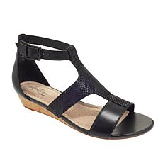 Collection by Clarks Abigail Lily Leather Wedge Sandal