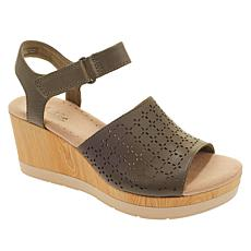 3e01eac99c5 Collection by Clarks Cammy Glory Leather Wedge Sandal