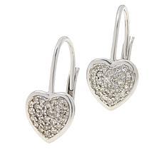 Colleen Lopez 0.33ctw Diamond Leverback Heart Earrings