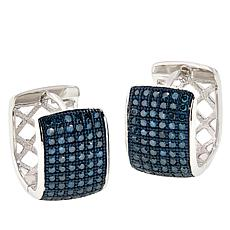Colleen Lopez 0.75ctw Colored Diamond Hugger Hoop Earrings