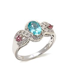 Colleen Lopez 0.95ctw Apatite & Pink Tourmaline Ring
