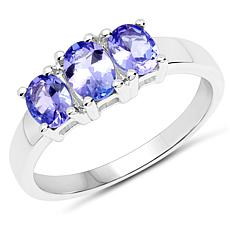 Colleen Lopez 1.05ctw Oval Tanzanite 3-Stone Ring