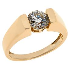 Colleen Lopez 10K Gold 1ct Champagne Diamond Solitaire Ring