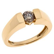 Colleen Lopez 10K Gold .5ct Champagne Diamond Solitaire Ring