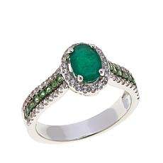 Colleen Lopez 1.1ctw Emerald, Tsavorite and Gem Ring