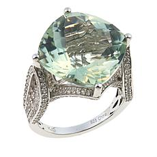 Colleen Lopez 12.72ctw Checkerboard-Cut Gemstone and White Zircon Ring