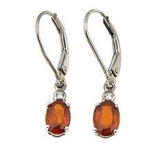 Colleen Lopez 1.63ctw Oval Kyanite and White Zircon Drop Earrings