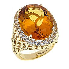 Colleen Lopez 17.29ctw Citrine and White Topaz Ring