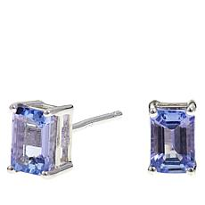 Colleen Lopez 1ctw Emerald-Cut Tanzanite Stud Earrings