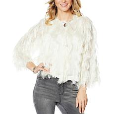 Colleen Lopez 2-button Vertical Fringe Topper