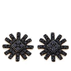 Colleen Lopez .25ctw Sterling Silver Colored Diamond Sunburst Earrings