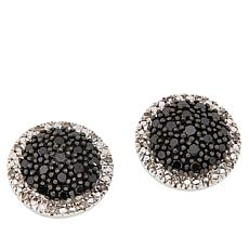 Colleen Lopez .33ctw Black and White Diamond Stud Earrings