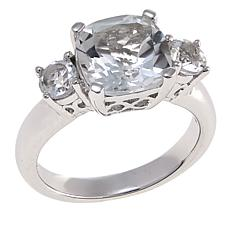 Colleen Lopez 3.57ctw Cushion-Cut White Topaz Sterling Silver Ring
