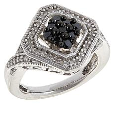 Colleen Lopez .53ctw Black and White Diamond Ring